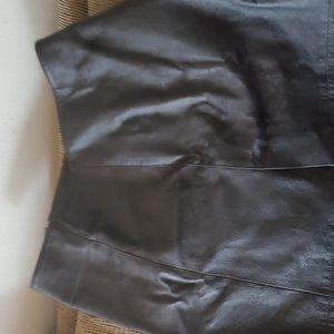 Newport News Black Leather mini skirt